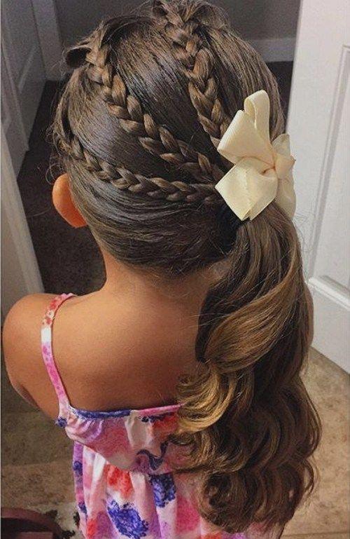 Зачіска на перше вересня й інші свята для дівчинки ідеї з фото