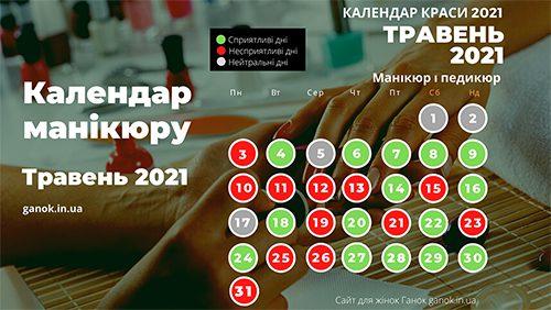 Календар краси 2021 манікюр і педикюр сприятливі дні в травні 2021