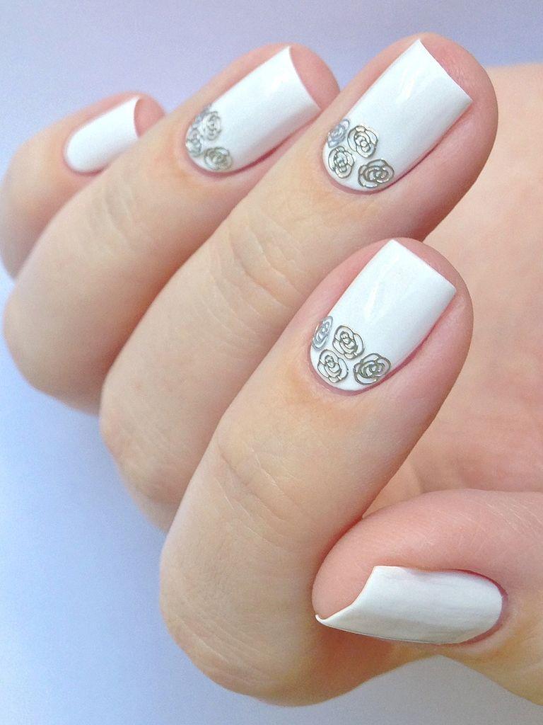 Білий весільний манікюр, чудове нейл покриття для весілля