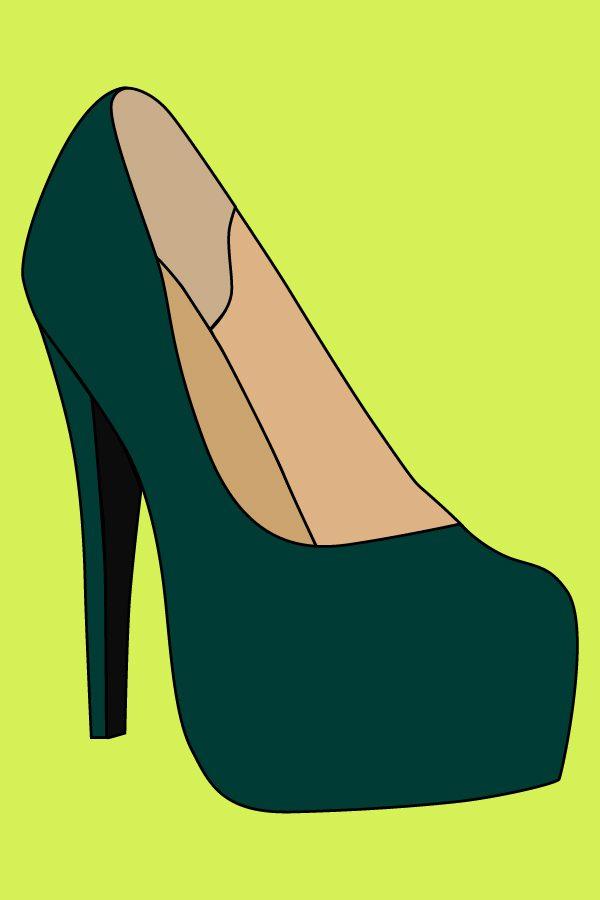 Туфлі на високих підборах (малюнок тесту 1)