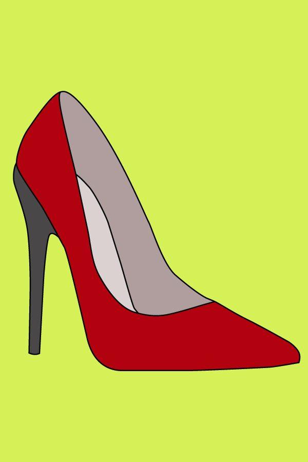 Туфлі з гострим носком і на високих підборах (малюнок тесту 4)