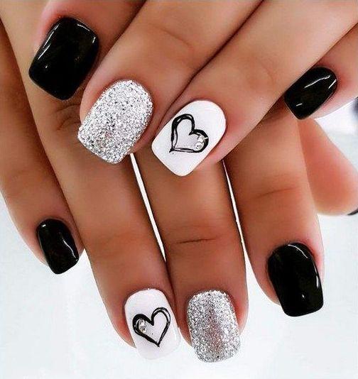 нейл покриття сердечка на короткі нігті