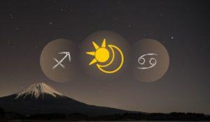 Висхідний знак Стрільця і сонячний знак Рака