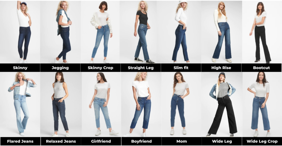 Моделі джинсів для жінок за кроєм, шириною, довжиною і посадкою на талії