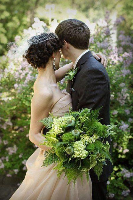 Весільні букети для нареченої, «зелені» тренди