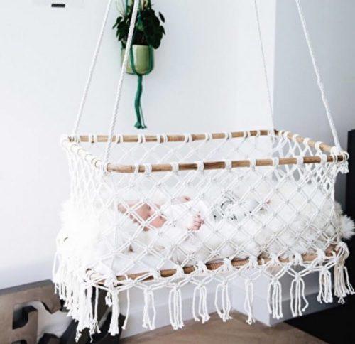 Підвісні колиски для немовлят – ідеї ліжечка для гарного сну