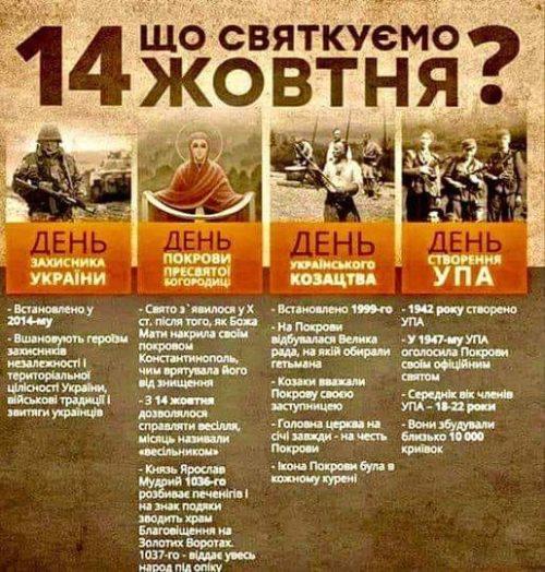 14 жовтня, що святкують в Україні