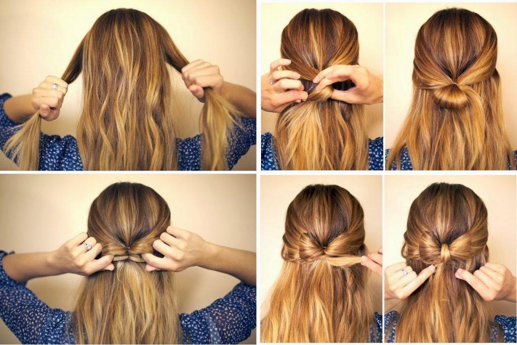Святкова зачіска в природному легкому стилі на довге волосся яка зробить вас молодше
