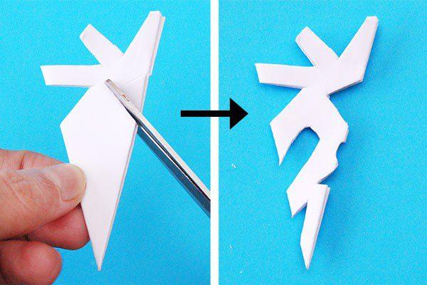 Ідея новорічного декору: сніжинка з паперу крок 9