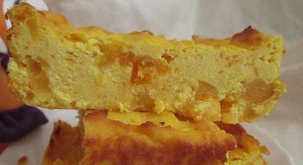Запіканка з гарбуза і сиру без використанні яєць