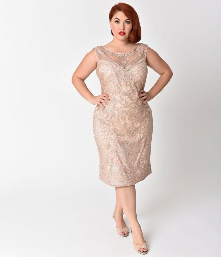 Вишукана сукня з вишивкою довжиною до коліна пастельного коліру