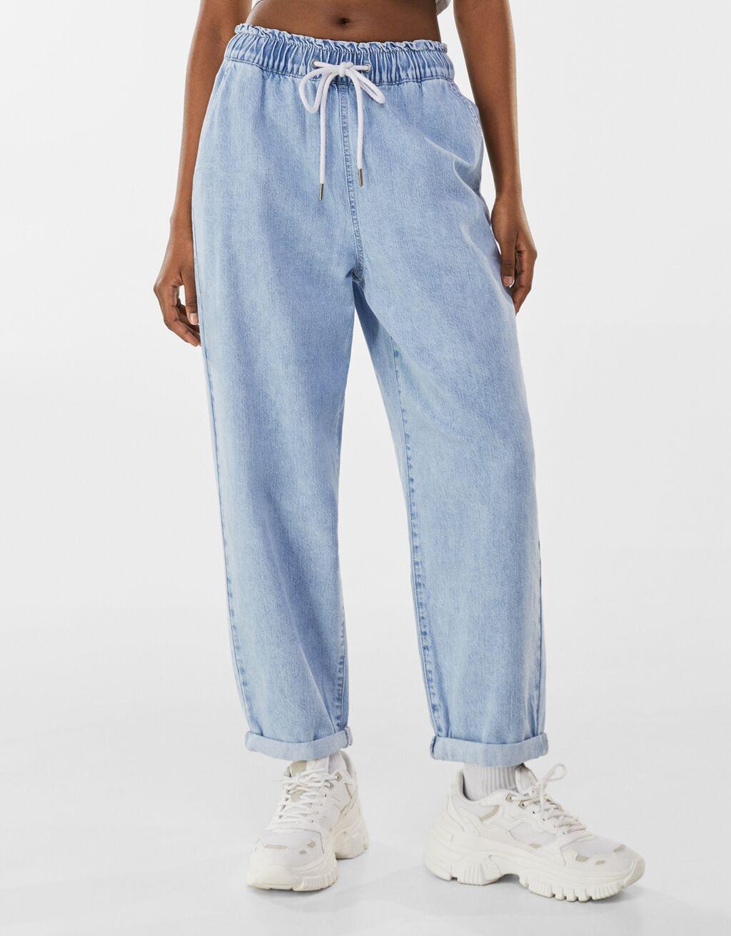 Багі джинси з легкого деніму