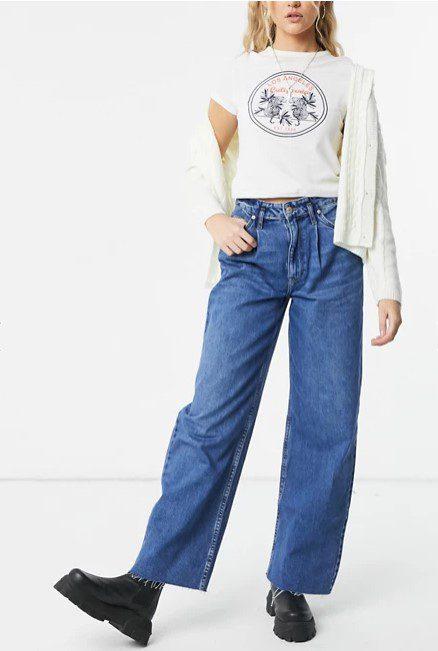 Багі джинси в стилі 90-х, мом джинси