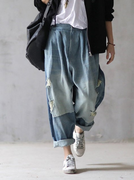 Багі джинси в стилі бохо
