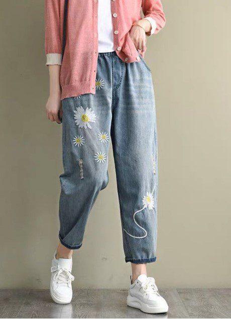 Багі джинси з принтом