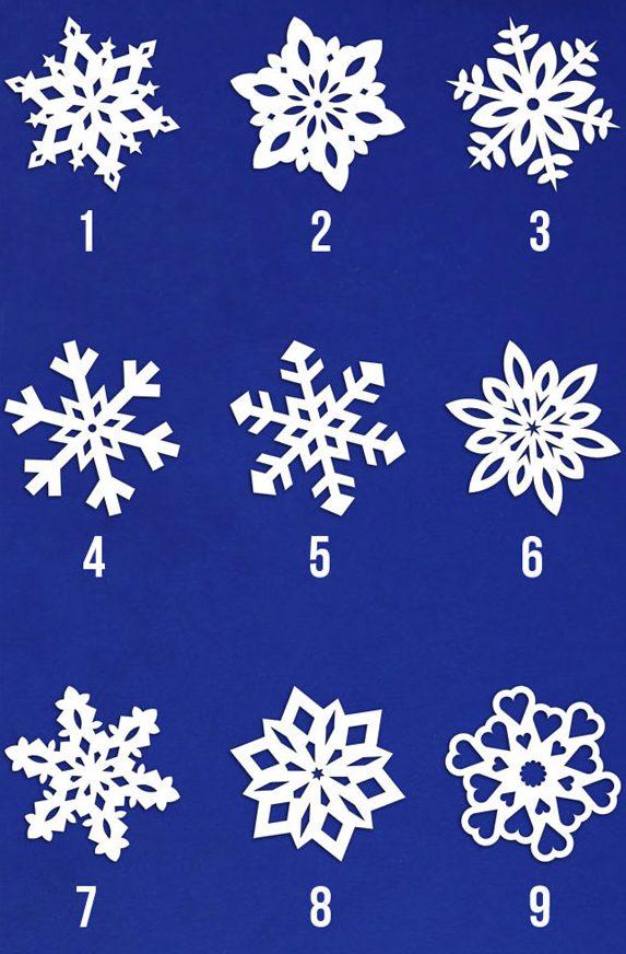 9 варіантів визерунків для сніжинок з паперу