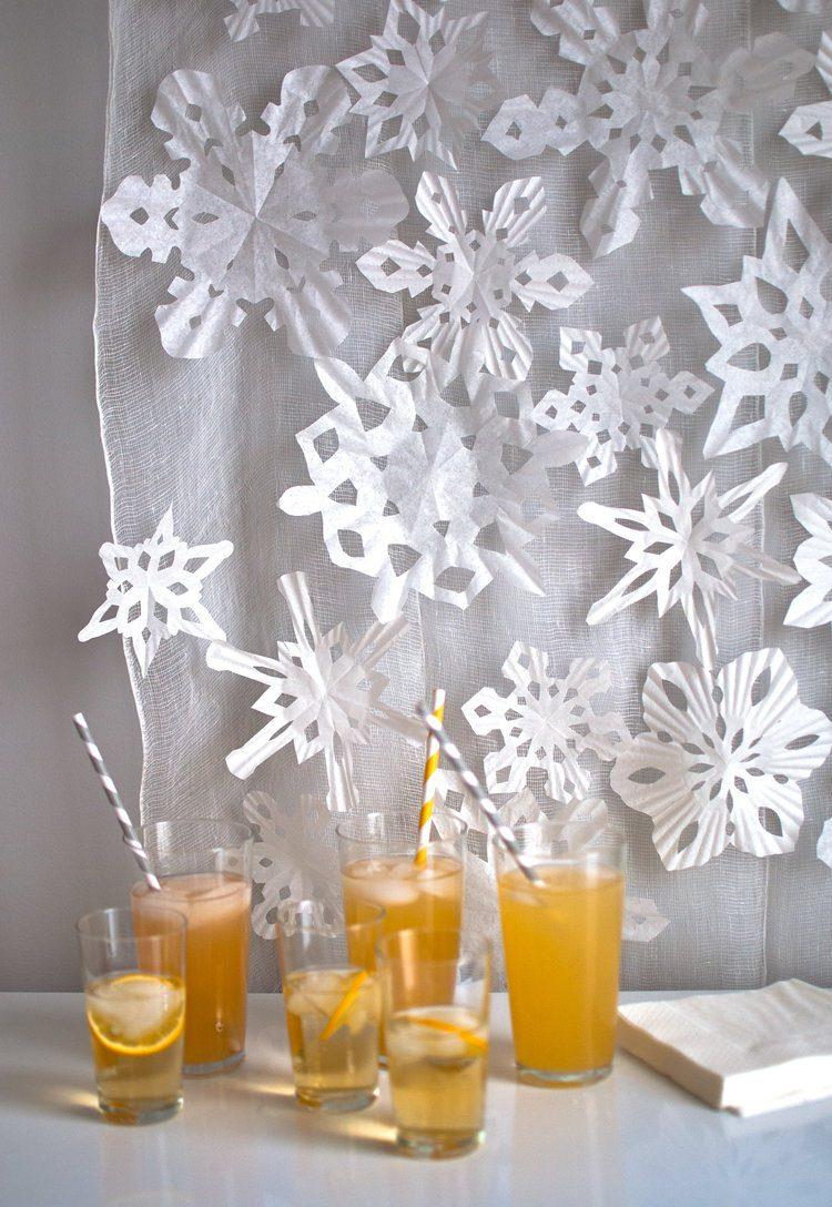 Варіант декору на тканину для сніжинок з паперу