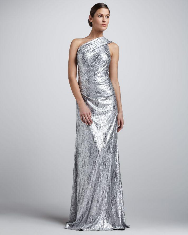Довга вечірня  блискуча сукня