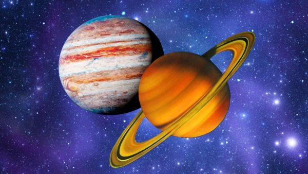 Астррлогічна подія кінця грудня поєднання Юпітер і Сатурн у Водолії